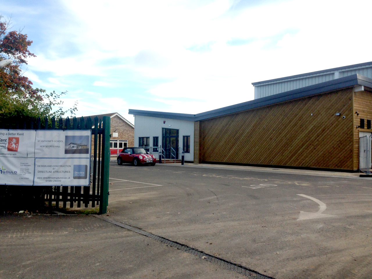 St Anthony's School, sports hall kent, Directline Structures